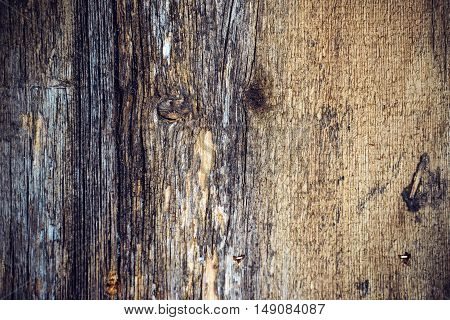 Texture of old weathered wooden board natural background