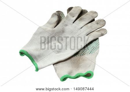 a pair of work gloves when working in the ground