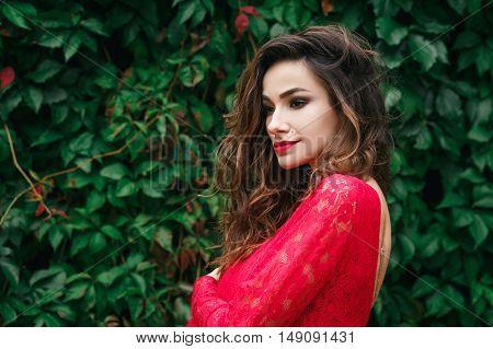 Beautiful Young Woman Dress