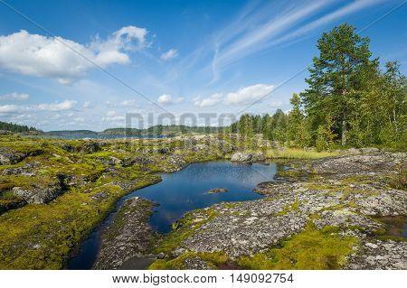 Karelia republic landscapes. Popular eco tourism spot in Russia.