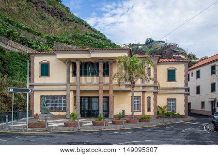 Town center of Ponta do Sol popular touristic resort, Madeira island, Portugal.