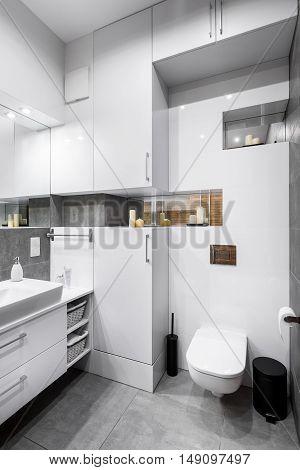 White High-gloss Bathroom Idea