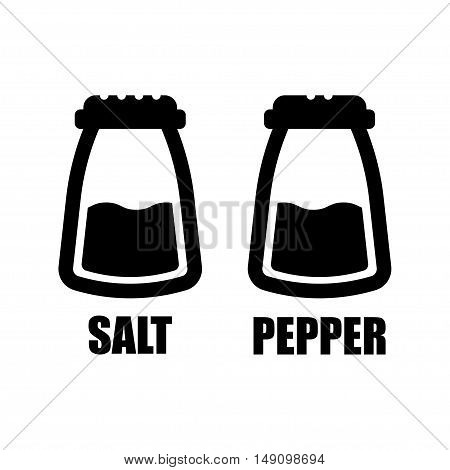 Salt and pepper condiment shakers line icon