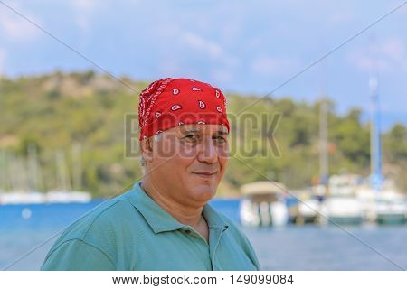 Man In Red Bandana 2