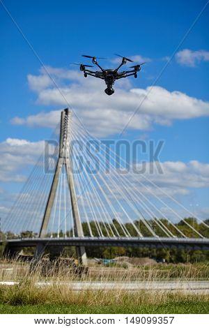 drone quadcopter with digital camera