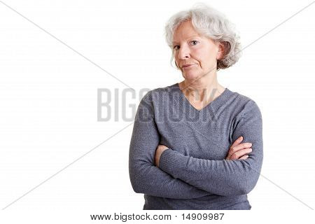 Retired Woman With Arms Crossed