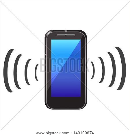 mobile phone icon on a white background, vector illustration styles