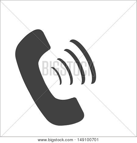 phone icon on a white background, stylish vector illustration