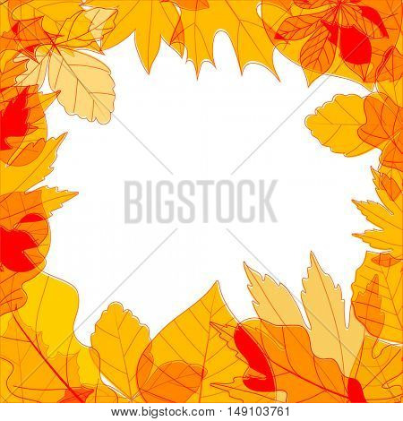 Color leaves season vector concept. Copy-space