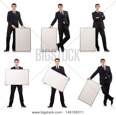 Elegant young man isolated on white