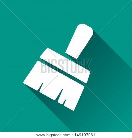 Illustration of paintbrush design icon with shadow