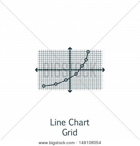 Vector Illustration Of Statistics Icon On Line Chart In Trendy Flat Style. Statistics Isolated Icon