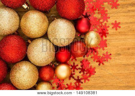 Christmas decoration. Christmas ball with ornaments