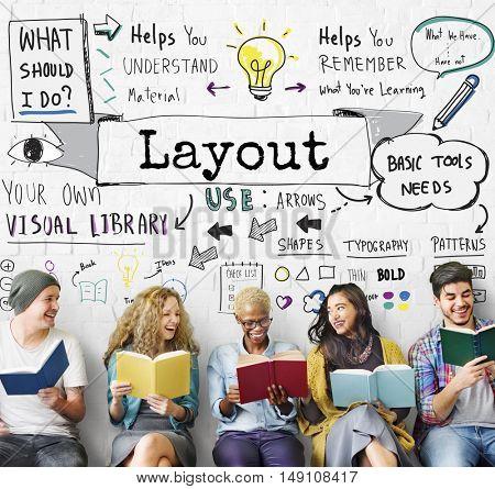 Layout Creative Design Editing Organization Concept