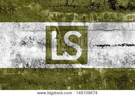 Flag Of Lees Summit, Missouri, Usa, Painted On Dirty Wall