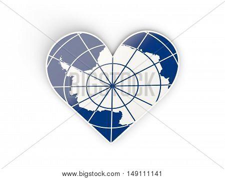 Flag Of Antarctica, Heart Shaped Sticker