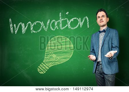 Innovation Presentation By A Businessman