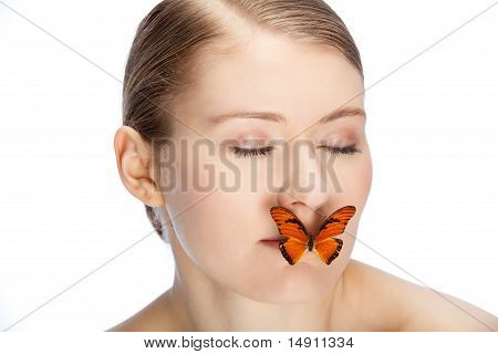 Butterfly Covering Mouth