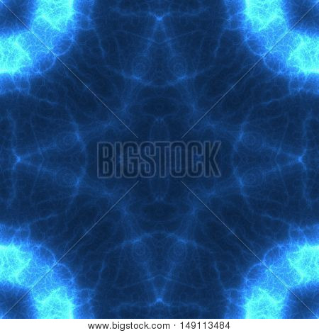 Mysterious blue star abstract geometrical image background