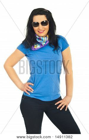 Beautiful Model Woman With Sunglasses