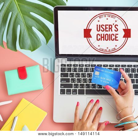 User's Choice Commercial Password Seller Concept