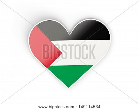 Flag Of Palestinian Territory, Heart Shaped Sticker