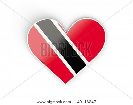 Flag Of Trinidad And Tobago, Heart Shaped Sticker