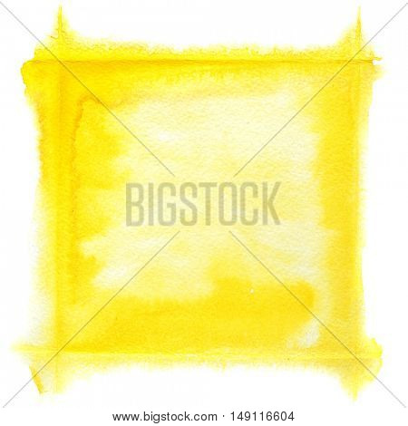 Yellow watercolor frame - space for your own text