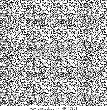 Seamless texture with intersecting wavy lines. Intricate pattern. Vector background for your creativity