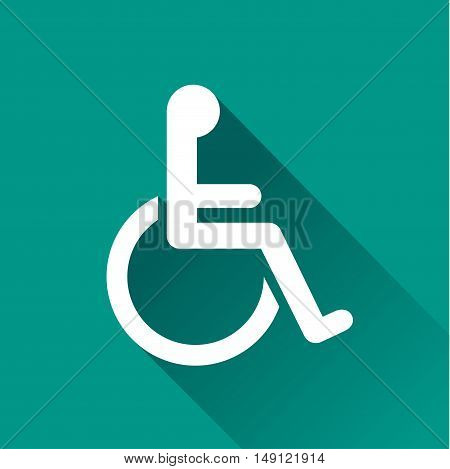 Illustration of handicap design icon with shadow