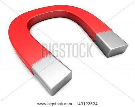 A generic Magnet. A 3D rendered illustration.