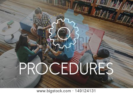 Procedures Business Action Analysis Development Concept