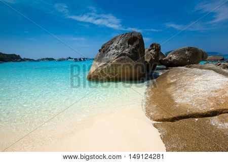 tropical similan island white beach - Thailand