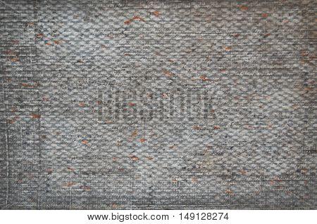 grunge linen background, grey dirty surface, dark