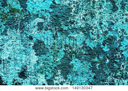 Turquoise Vintage Grunge Texture Of Old Decorative Tile Wall