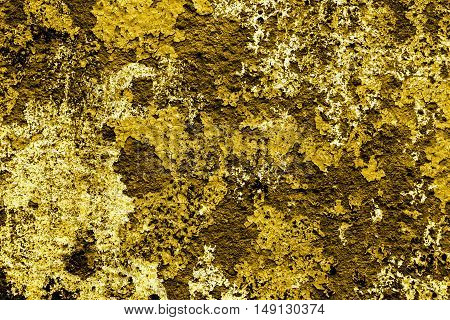 Gold Vintage Grunge Texture Of Old Decorative Tile Wall