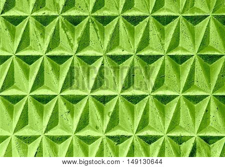 Green Texture Of Geometric Triangular Decorative Tiles