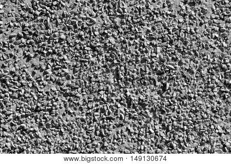 Grey stones, gravel texture, macro background photo