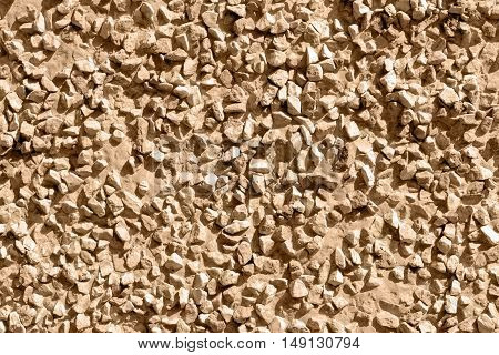 Brown stones gravel texture macro background photo