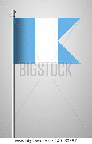 Flag Of Guatemala. National Flag On Flagpole