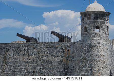HAVANA, CUBA - September 09, 2016: Havana El Morro Fortress in Cuba
