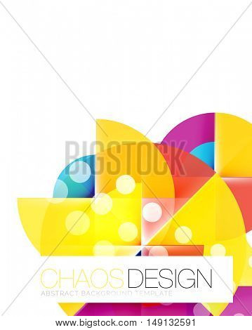 Vector circle abstract background template