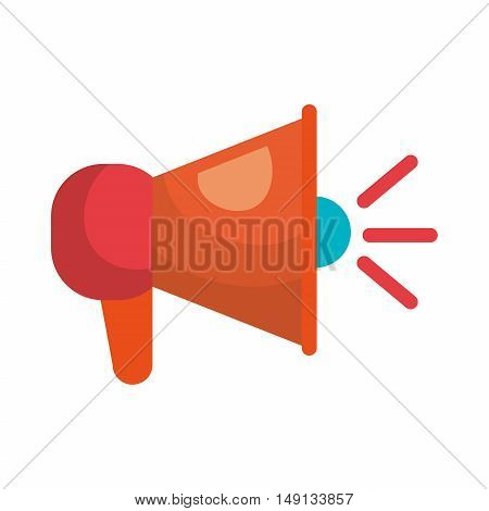 megaphone icon speaker social network vector illustration