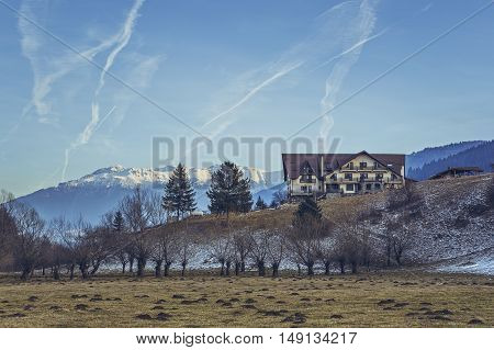 Scenic Winter Mountain Landscape