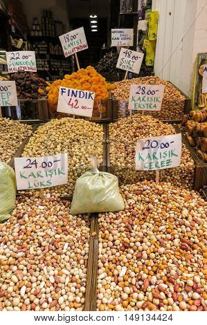 Ried Nuts And Spices In Istambul