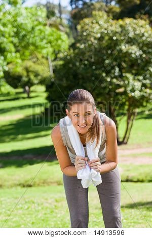 Sporty Woman In The Park