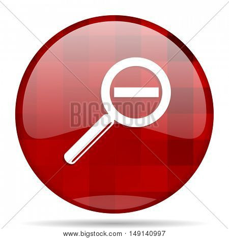 lens red round glossy modern design web icon