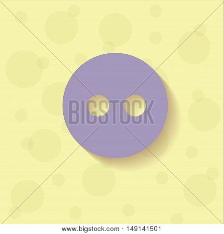 Violet button on the yellow background with circles