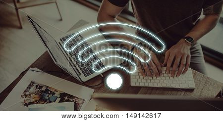 Internet Wifi Connection Network Graphic Concept