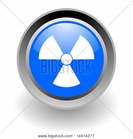 nuclear steel glossy icon